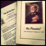 Materiale informativo, diario di viaggio, preghiere e orazioni