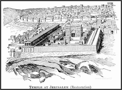 ricostruzione del Tempio di Gerusalemme, incisione