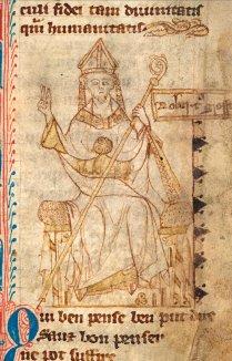 Ink drawing of bishop