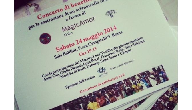 Sul concerto di beneficenza di Sabato 24 Maggio 2014.