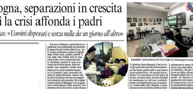 L'Italia non aiuta i padri separati.
