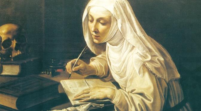 Dispensatore gratuito di buon umore: Santa Caterina da Siena.